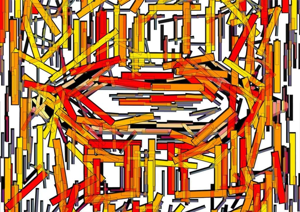 bars, pattern, chaos