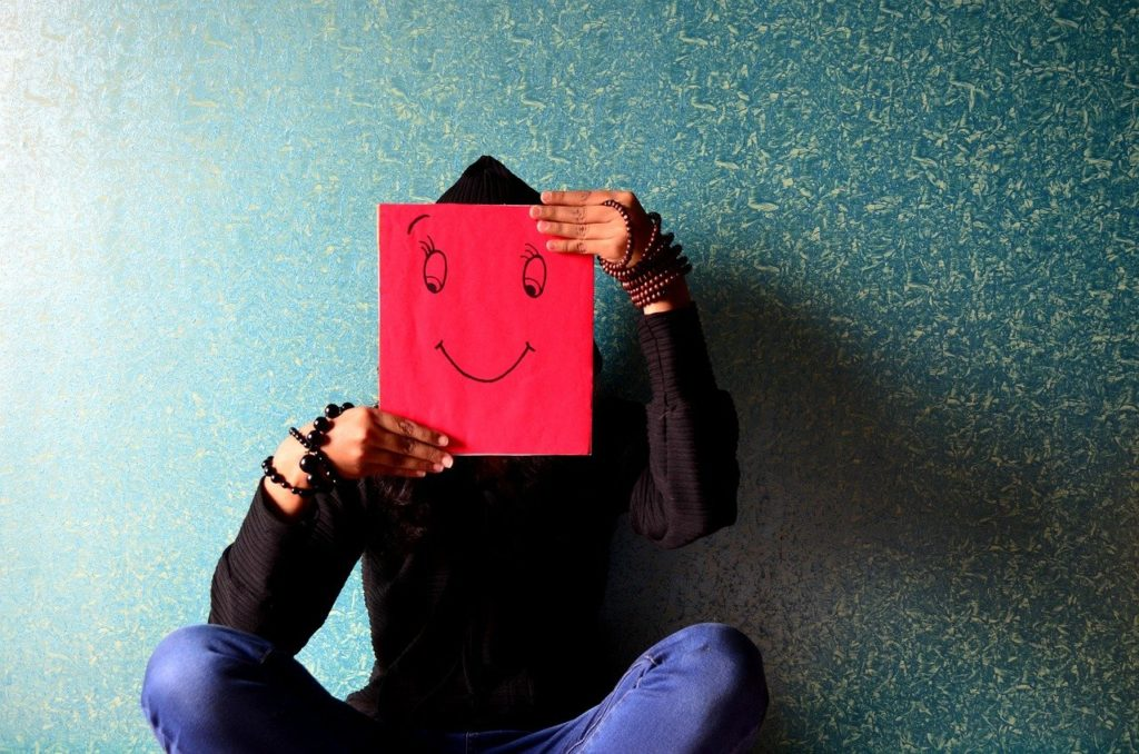 man, happy, face